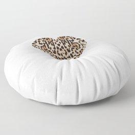 Cheetah Pattern Heart Leopard Fur Heart Shape Animal Print Floor Pillow