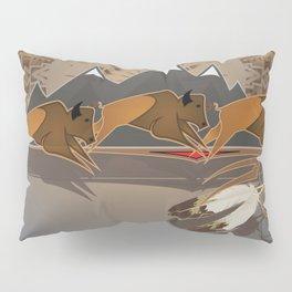 Native American Indian Buffalo Nation Pillow Sham