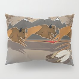 Native American Indian Buffalo Nation Pillow Sham