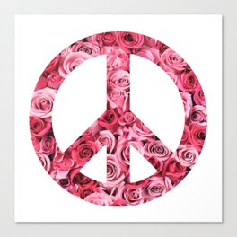Peace and Flowers Canvas Print