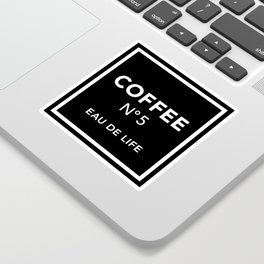 Black Coffee No5 Sticker