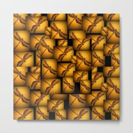 Dragonflies - sophisticated colors Metal Print