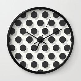 Kitschy Halftone Polka Dots Wall Clock