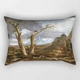 Washington Allston Elijah in the Desert Rectangular Pillow