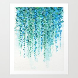String of Pearls Watercolor Art Print