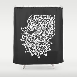 Solar Eclipse – Batara Kala Shower Curtain