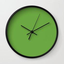 Green. Verde. Vert. Grün. зеленый Wall Clock
