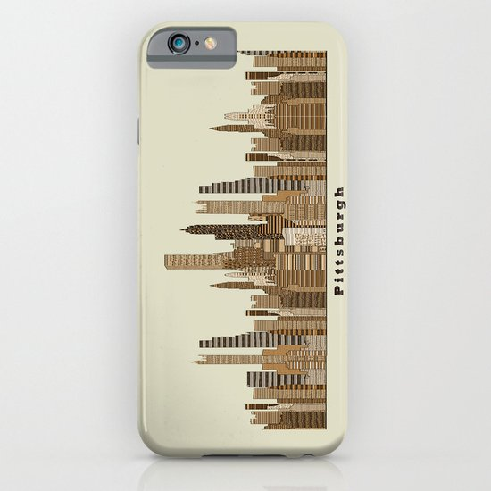 Pittsburgh skyline vintage iPhone & iPod Case