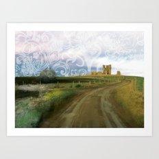 Church Farm, Norfolk, England Art Print