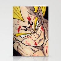 vegeta Stationery Cards featuring Vegeta by DeMoose_Art