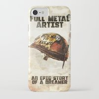 full metal alchemist iPhone & iPod Cases featuring Full metal artist by HappyMelvin
