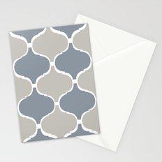 MARRAKECH PATTERN GreyBlue Stationery Cards