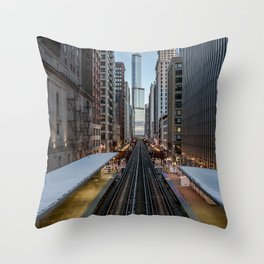 It's Quiet in the Morning Throw Pillow