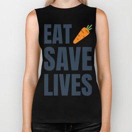Eat Vegan, Save Lives! Be Healthy! Biker Tank