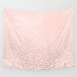 Blush Glitter Pink Wall Tapestry