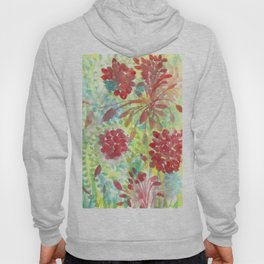 Ixora and Ferns - Watercolor Hoody