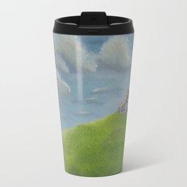 Distant Barn on a Cloudy Day Travel Mug
