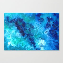 blue galaxy Canvas Print