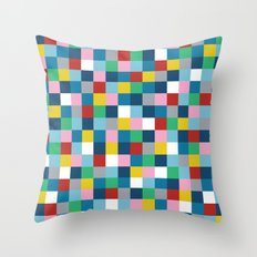 Colour Block #3 Throw Pillow