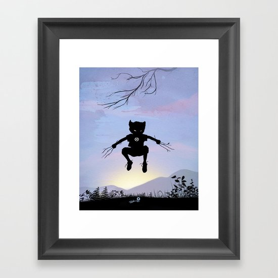 Wolverine Kid Framed Art Print