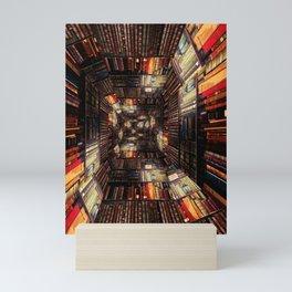 Bookshelf Books Library Bookworm Reading Pattern Mini Art Print