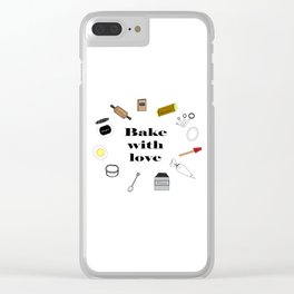 Bake with love Clear iPhone Case