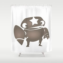minima - slowbot 004 Shower Curtain