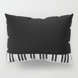 Piano Keyboard Pillow Sham