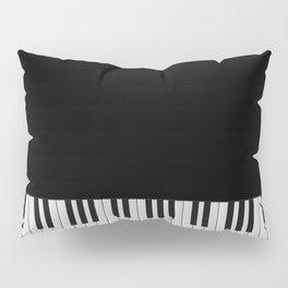Piano Keyboard Pillow Sham