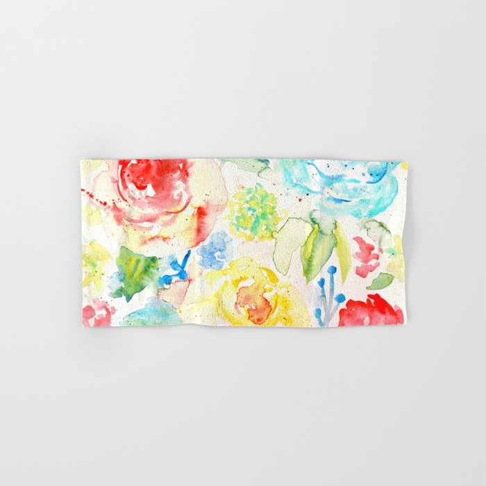 Abstract Flowers 06 Hand & Bath Towel