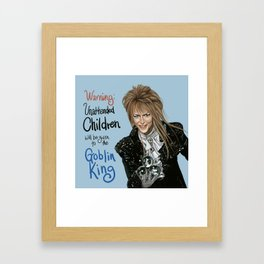 Goblin King Jareth Framed Art Print
