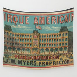 American Old sing Cirque Americain Wall Tapestry