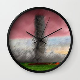 We Are Not in Kansas Anymore Landscape by Jeanpaul Ferro and James Stewart Wall Clock