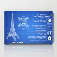 eiffel tower iPad Cases featuring  Eiffel Tower by mewdew