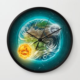 The Earth Wall Clock