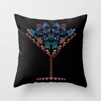 martini Throw Pillows featuring Marine Martini by artsytoocreations
