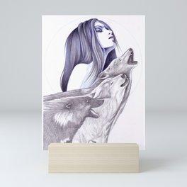 Call Of The Wolves Mini Art Print