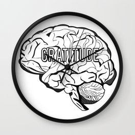 GRATITUDE Brain Wall Clock
