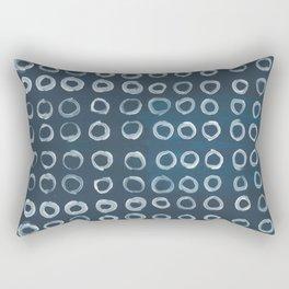 Indigo and Circles Rectangular Pillow