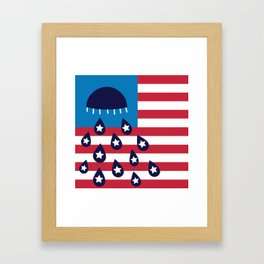 Red White and Blues Framed Art Print