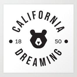 California Dreaming Minimalist Bear Art Print
