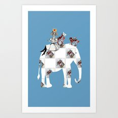 On the way to the Mad Hatter Tea Art Print