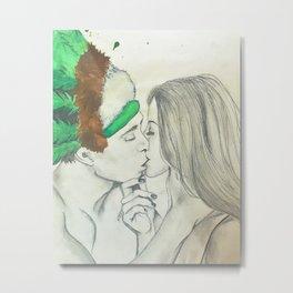 Just a kiss Metal Print