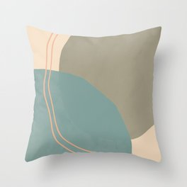 Abstract Spheres Throw Pillow