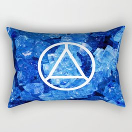 Sapphire Candy Gem Rectangular Pillow
