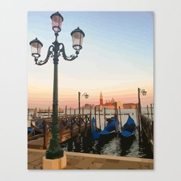 Boat and water Canvas Print