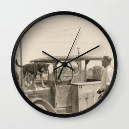 Man's Best Friend - A Vintage Photograph Wall Clock