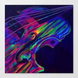 Neon Viola Pride Canvas Print