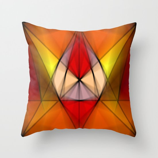 Stained  Triangulate  Throw Pillow