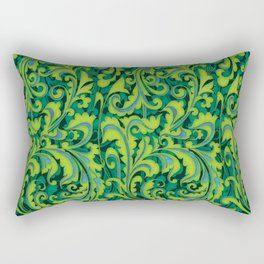 Verdant Victorian Vegetation Rectangular Pillow